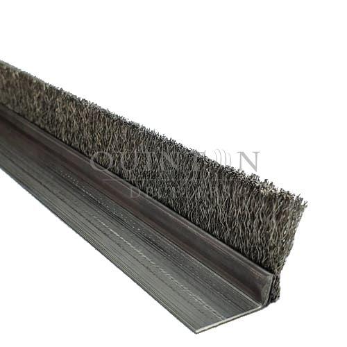 Brosse strip monobloc en inox ondulé